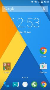 CM 12.1 Homescreen