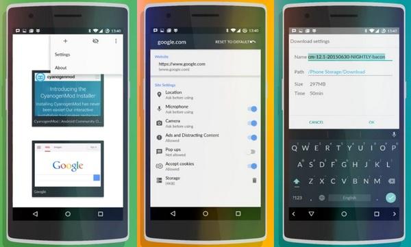 Gelle Browser (C) CyanogenMod